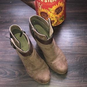 Brown 3in hilled booties (BEST OFFER)